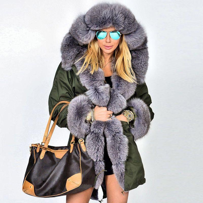 7de3096c0 Aliexpress.com : Buy Women's winter Real fur coat Natural Fox fur jacket  female warm Genuine Fur coats with big fur collar from Reliable real fur  coat ...