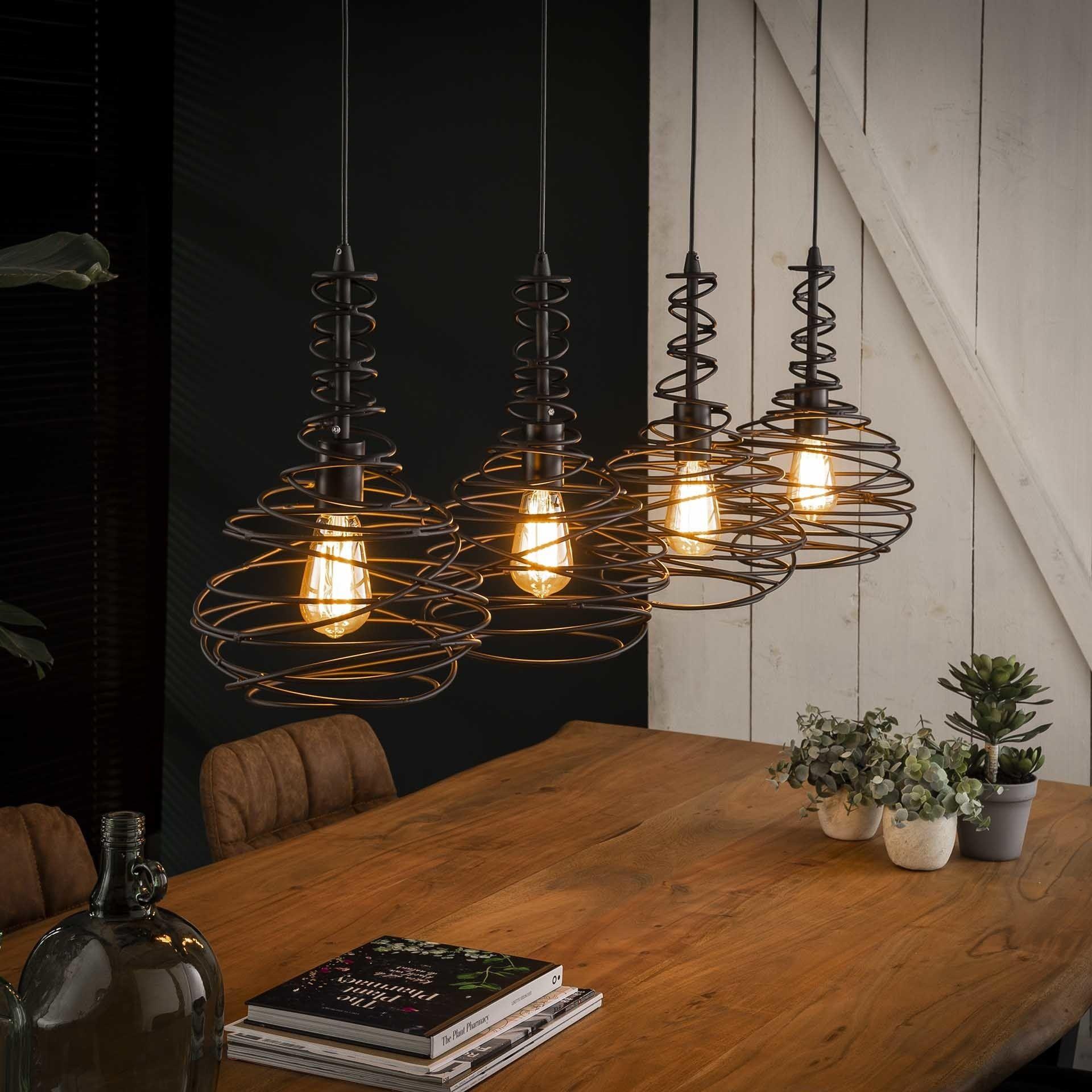 Hängelampe Cone 4 Flammig Metall Schwarz In 2020 Lampe