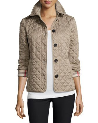 Burberry Ashurst Classic Modern Quilted Jacket Look Looks