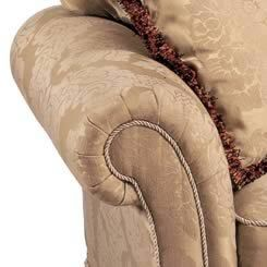 "Kindel arm detail:  Depth: 37.0"" (94cm)  Height:32.0"" (81.5cm)  Arm Height:28.25"" (72cm)  Seat Height:21.75"" (55cm)  Seat Depth:20.0"" (51cm)"