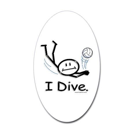 Volleyball Dive Sticker Oval Stick Figure Volleyball Oval Sticker By Busyartist Cafepress Stick Figures Volleyball William Morris Art