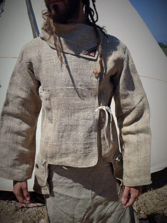 Hanf Männer Jacke von PrimitiveTribalCraft auf Etsy