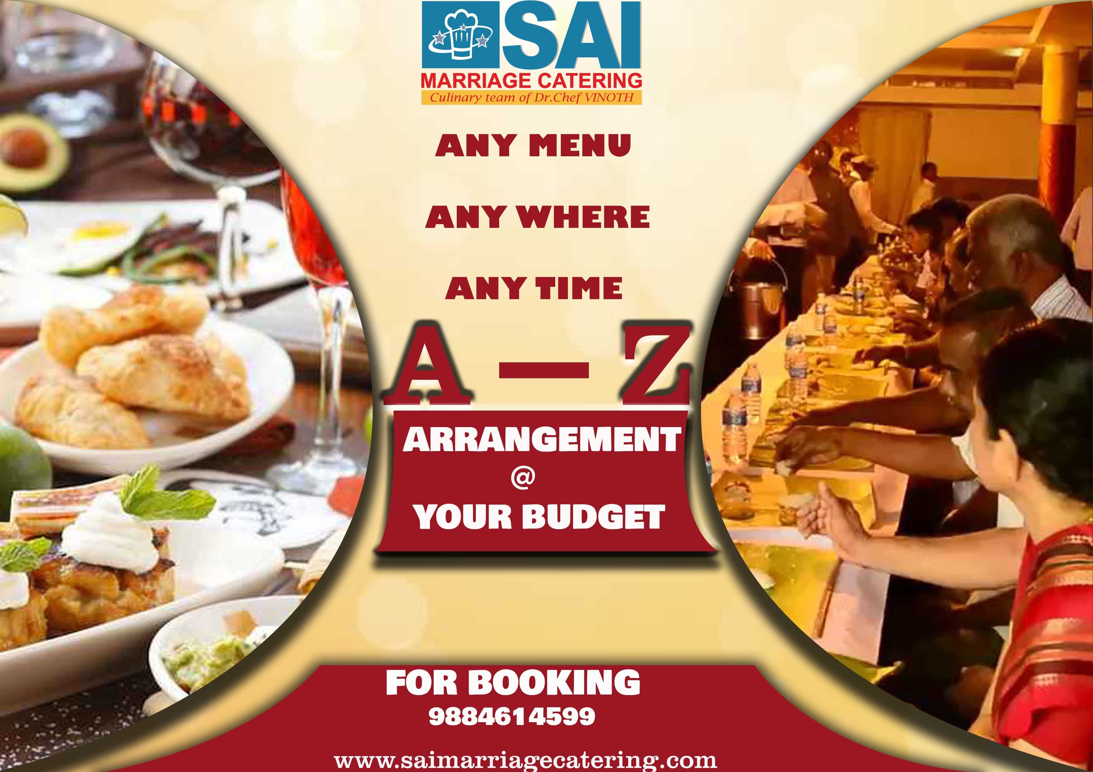 Sai Marriage Catering Services For People In Chennai India Our Expert Cooks Specialise In Creating Both Vegeteria Catering Catering Services Styling A Buffet