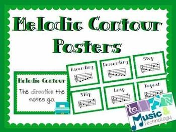 Elements Of Music Melodic Contour Posters Teaching Music Contour Elementary Music
