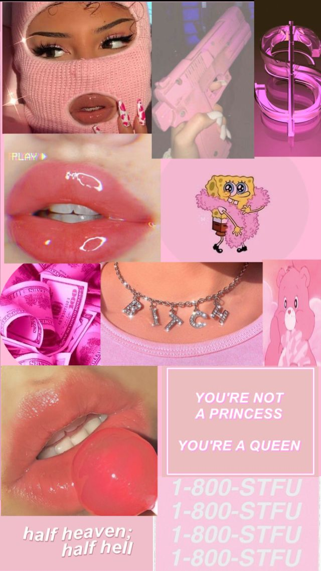 """aesthetic baby pink """"baddie"""" wallpaper"""