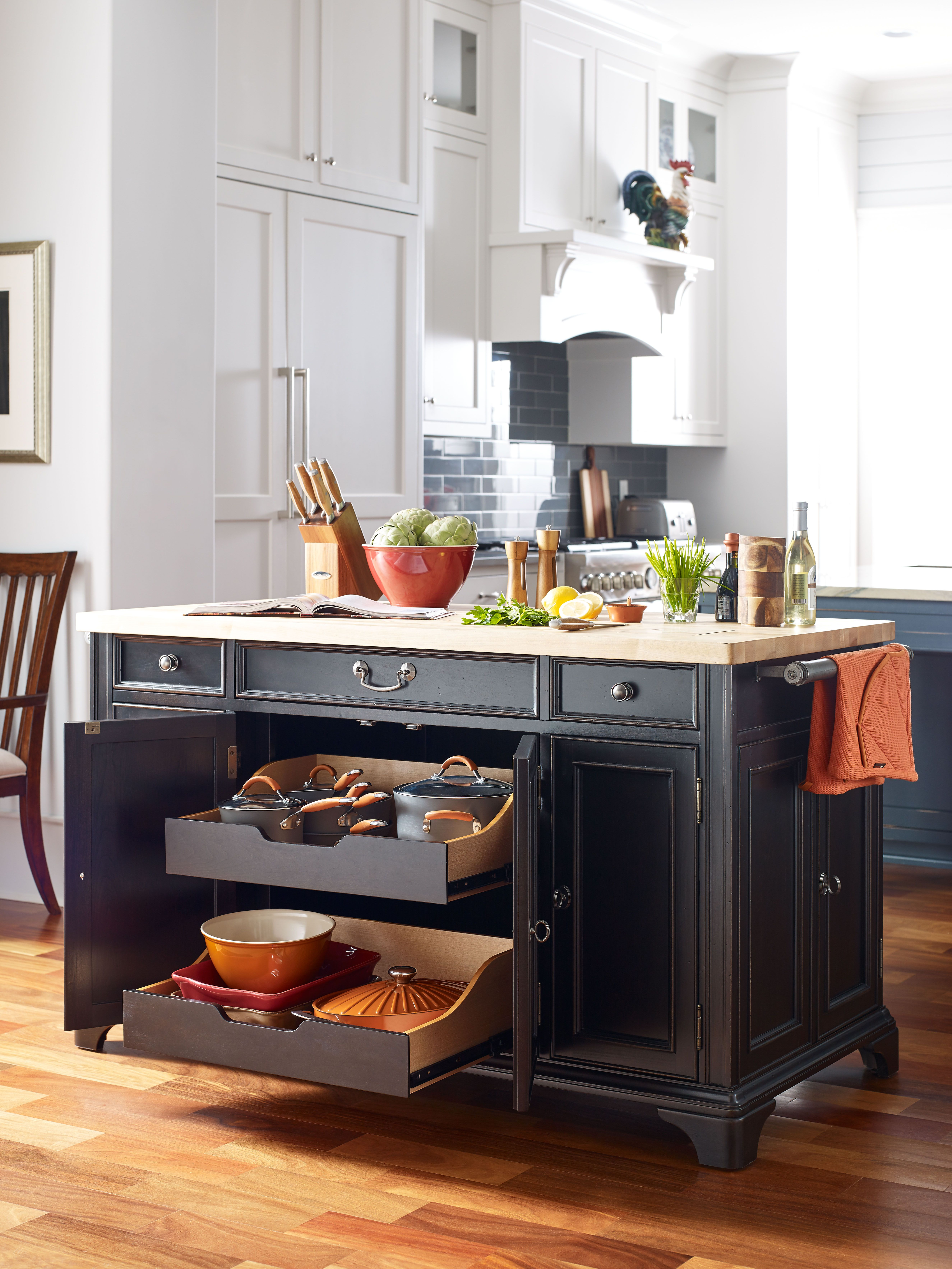 Rachael Ray Home Upstate Collection Kitchen Island Pots And Pans Storage By Legacy Clic
