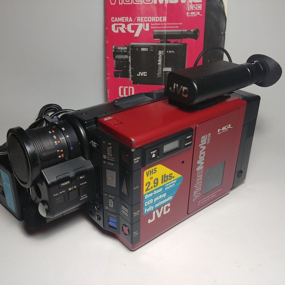 Details About Jvc Gr Axm700 Super Vhs C Camcorder 600x Digital Zoom Lots Of Accessories Bag Jvc Camcorder Camera Video Camera