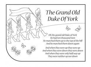 The Grand Old Duke Of York Rhymes Lyrics Nursery Rhymes Lyrics