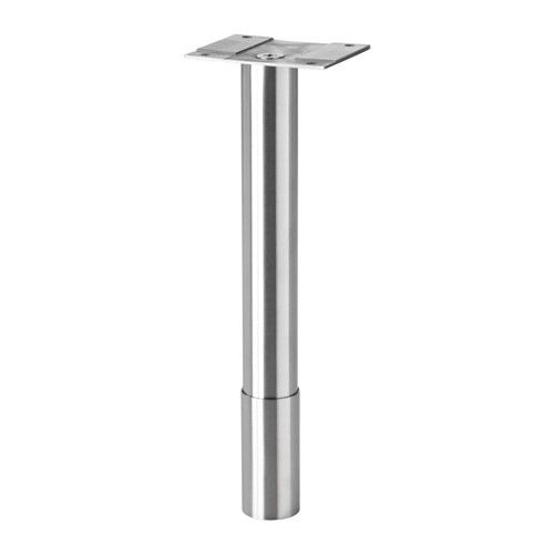 IKEA GODMORGON Leg Roundu0026 Steel Cm Adjustable Feet For Increased Stability  And Protection Against Floor Moisture.