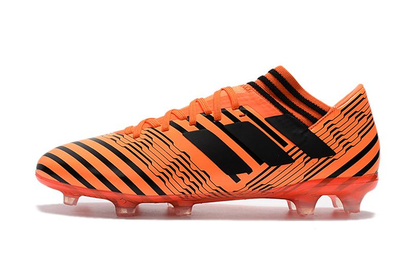 18cee0c7a8 2017-2018 FIFA World CUP New Soccer Cleats Adidas Nemeziz Messi 17 1 FG  Orange Black