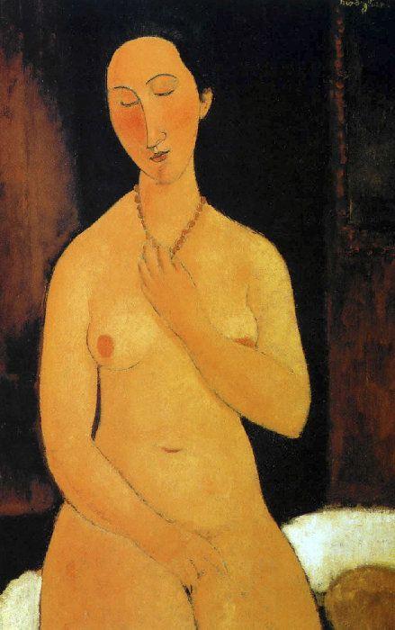 Modigliani - NU ASSIS AU COLLIER