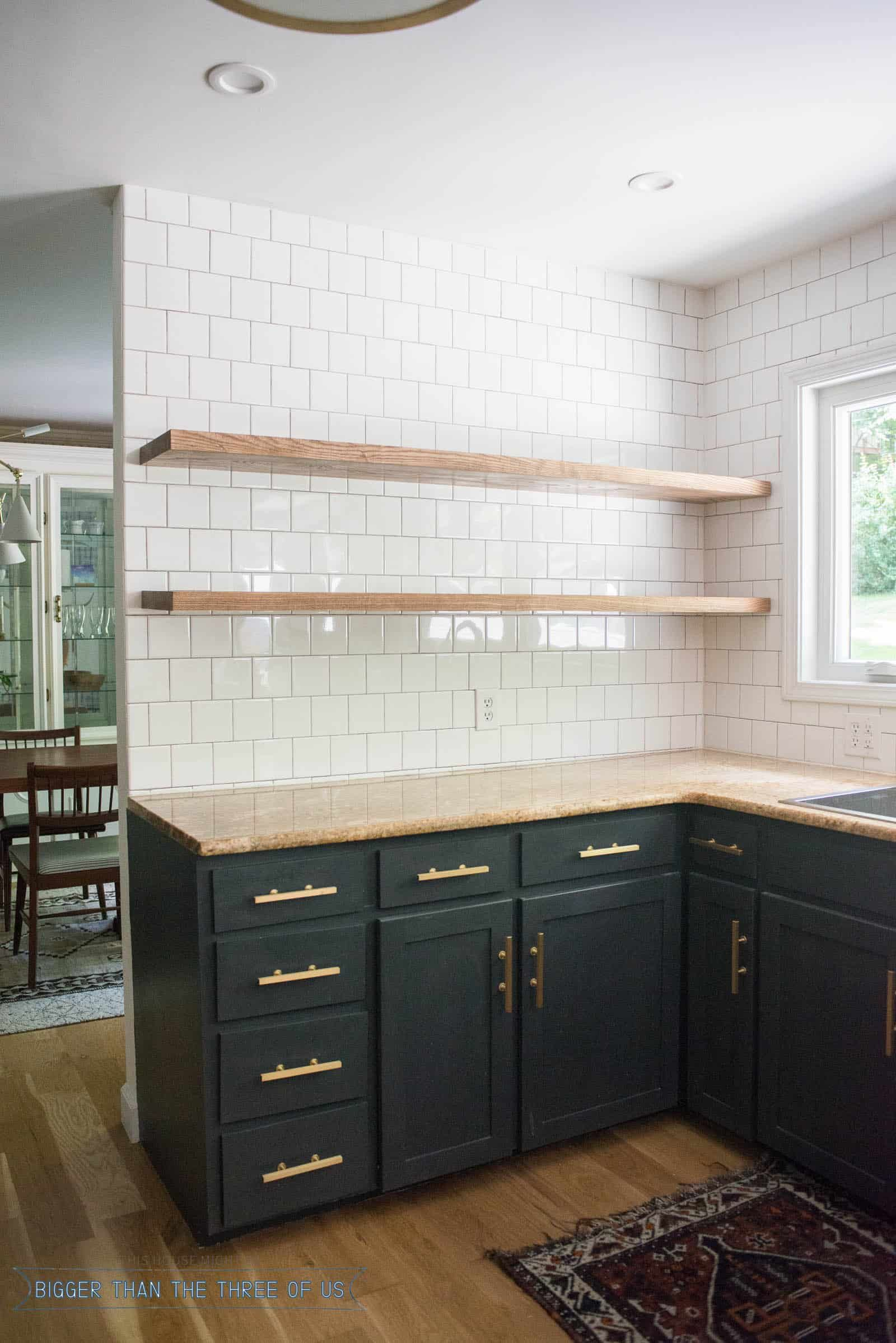 Floating Kitchen Cabinets Sink And Faucet Height Of Shelves Interior