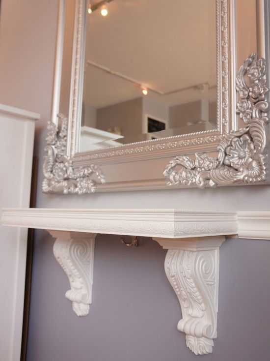exciting in home salon ideas. Salon Design in Vintage Style  Exciting Port Credit Beauty Details Carved Mirror Frame