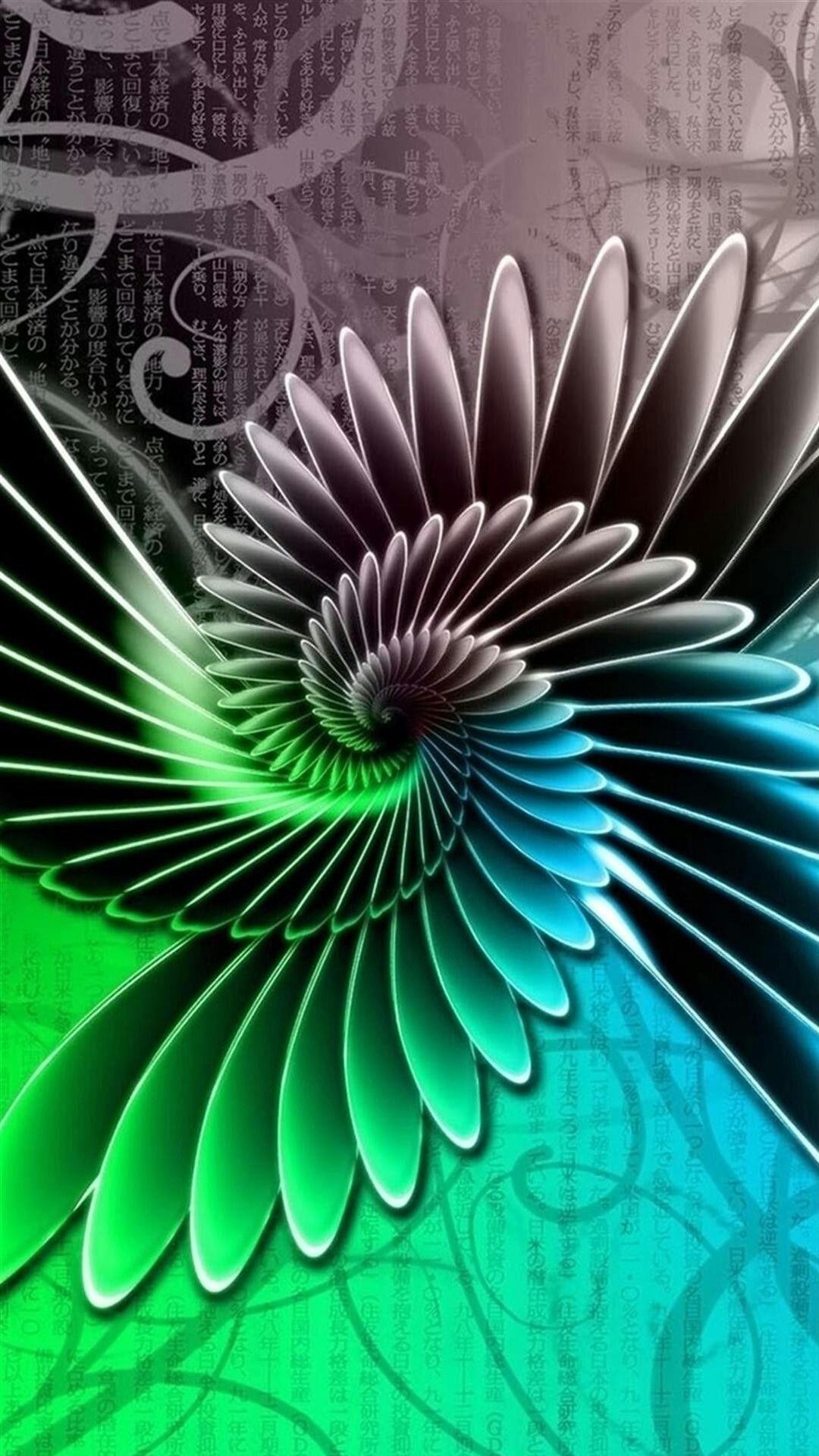 Spiral blue, green, gray wallpaper for LG