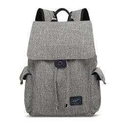AUGUR Brand Backpack Multifunction USB Charging Men Women Casual Travel  Teenager Student School Bag - Gray 9d8d7b6226618