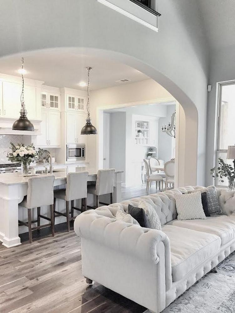 Elegant White Kitchen Design and Layout Ideas