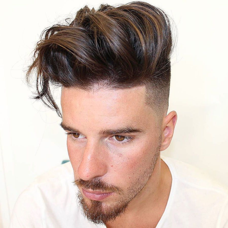 Textured Undercut Long Pomp Hairstyle Thick Hair Styles Long Hair Styles Men Mens Haircuts Fade
