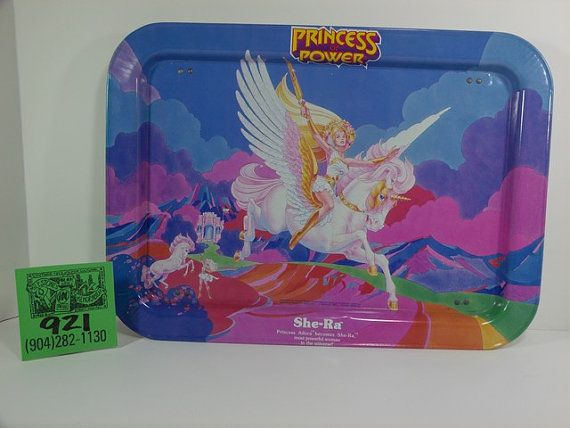 A near perfect example of this highly sought after TV tray-She Ra.About 15x12,it features the Princess of Power and her amazing steed.Top and