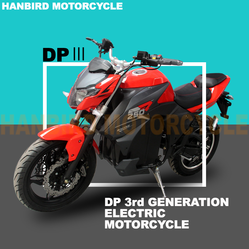 72v 30ah Lithium Battery Racing Electric Motorcycle with