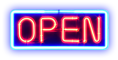 Open Sign Neon City Lights Niche Moodboard Freetoedit Neon Signs Neon Neon Png