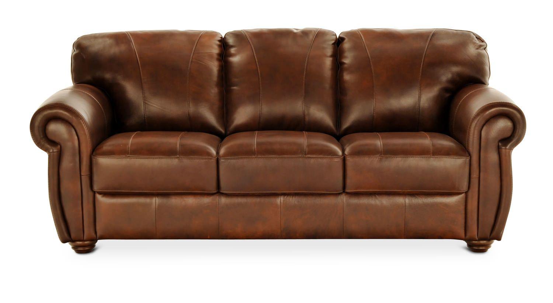 Oscar Leather Sofa Leather Sofa Furniture Hom Furniture