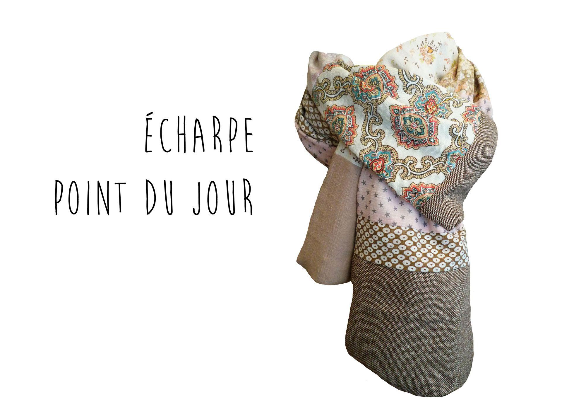 Écharpe pour Femme Etoiles Rose Taupe Style Bohème Chic Automne Hiver    Echarpe, foulard, 802f34b4ee3