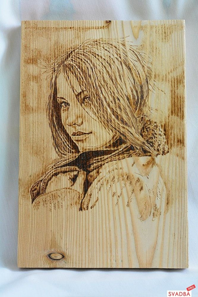 Картинка для выжигания по дереву женщины