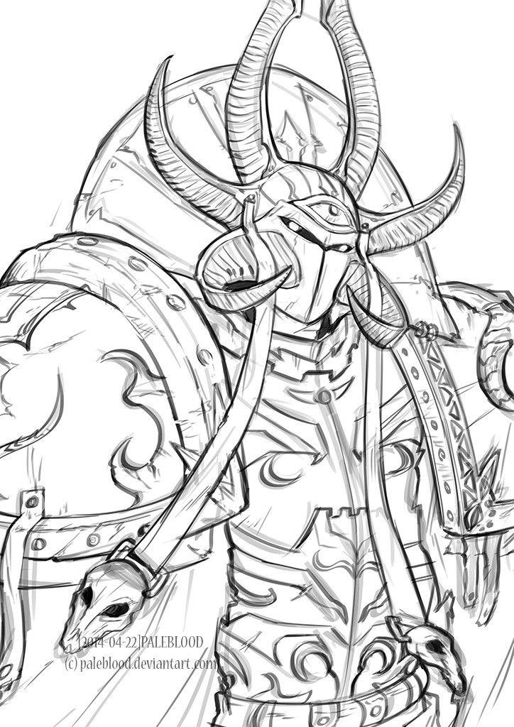 Thousand sons ahzek ahriman warhammer 40k pinterest cyclope - Coloriage sympa ...