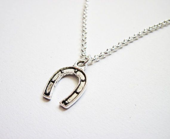 Tiny Horseshoe Necklace in silver by RobertaValle