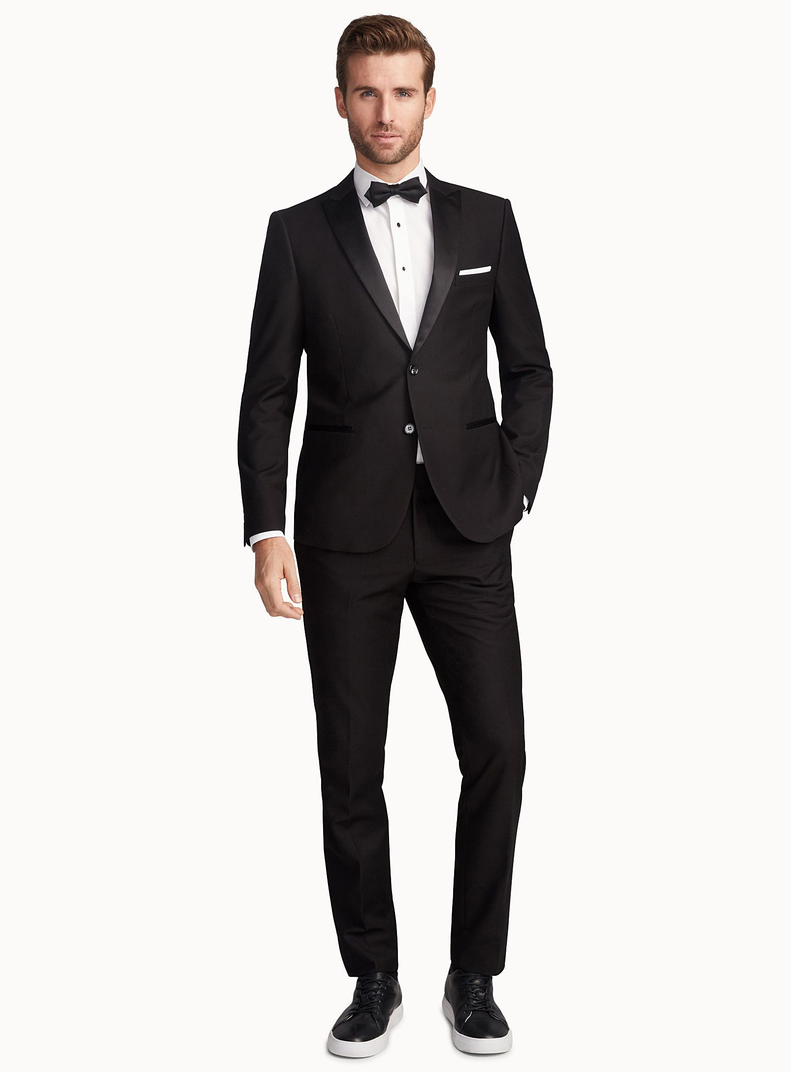 Plaid Jacquard smoking suit Semi-slim fit  e361efb129