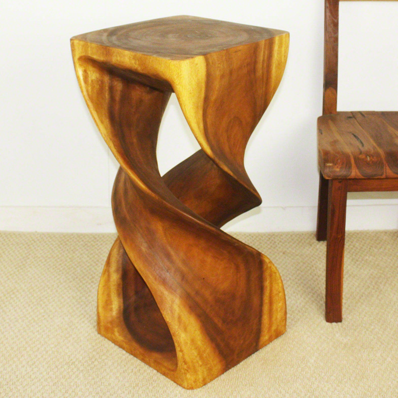 Strata Furniture 30 In Double Twist End Table In 2021 End Tables Furniture Mirrored End Table