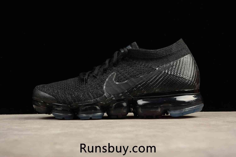hot sale online 38699 628fc New Coming Nike Air VaporMax 2018 Flyknit Black Women Men