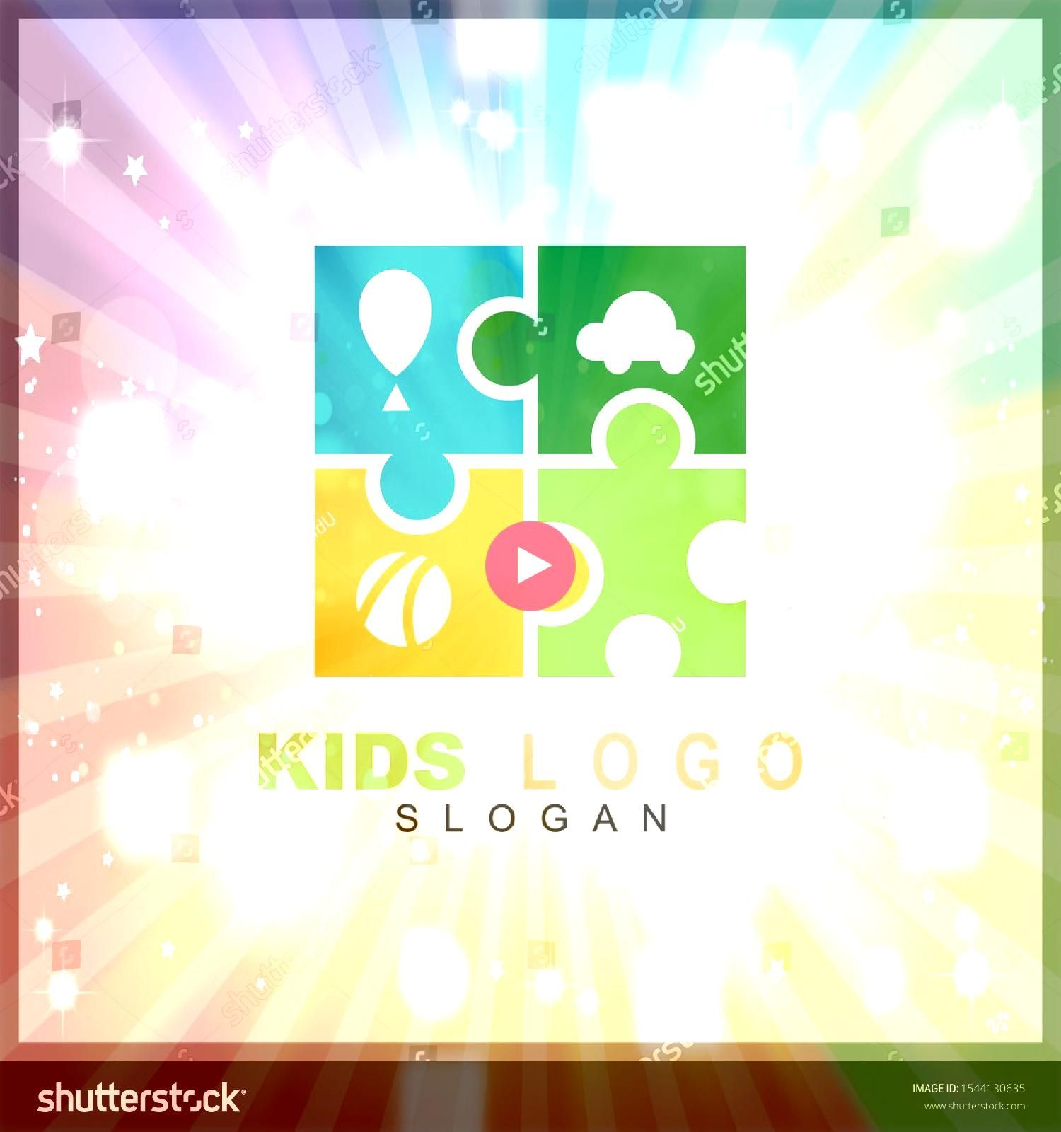 play colorful logo vector Children logo designs happy child design concept kid education logo logo element template Kids play colorful logo vector Children logo designs h...