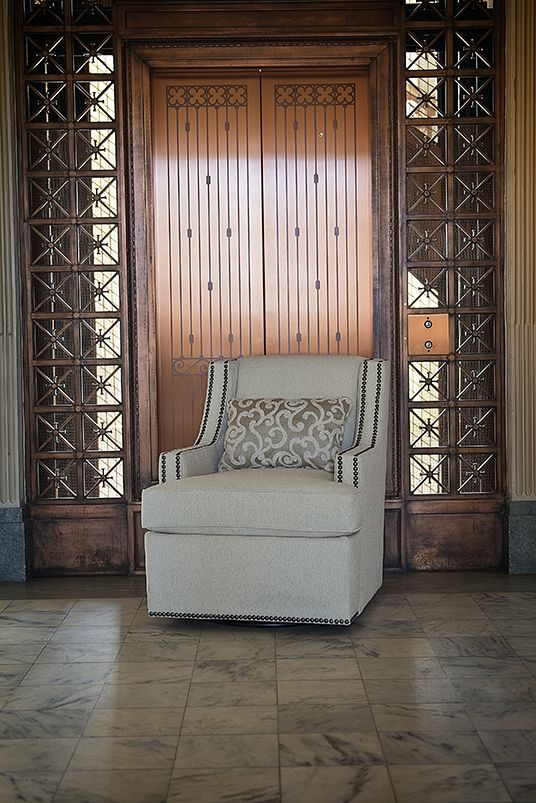 Mayo Furniture 2800F Fabric Swivel - Baird Snow