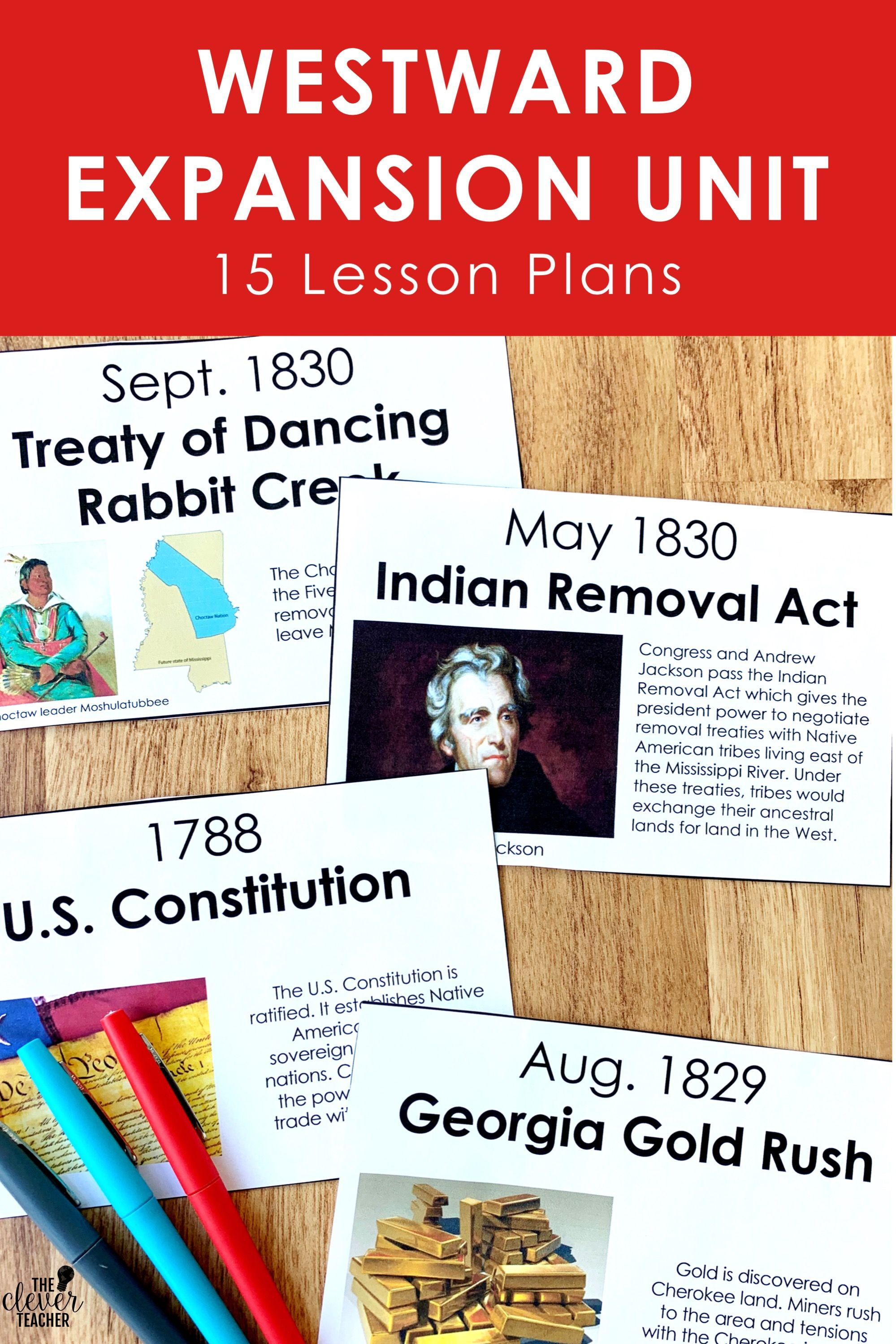 Westward Expansion Unit For 5th Grade And Middle School