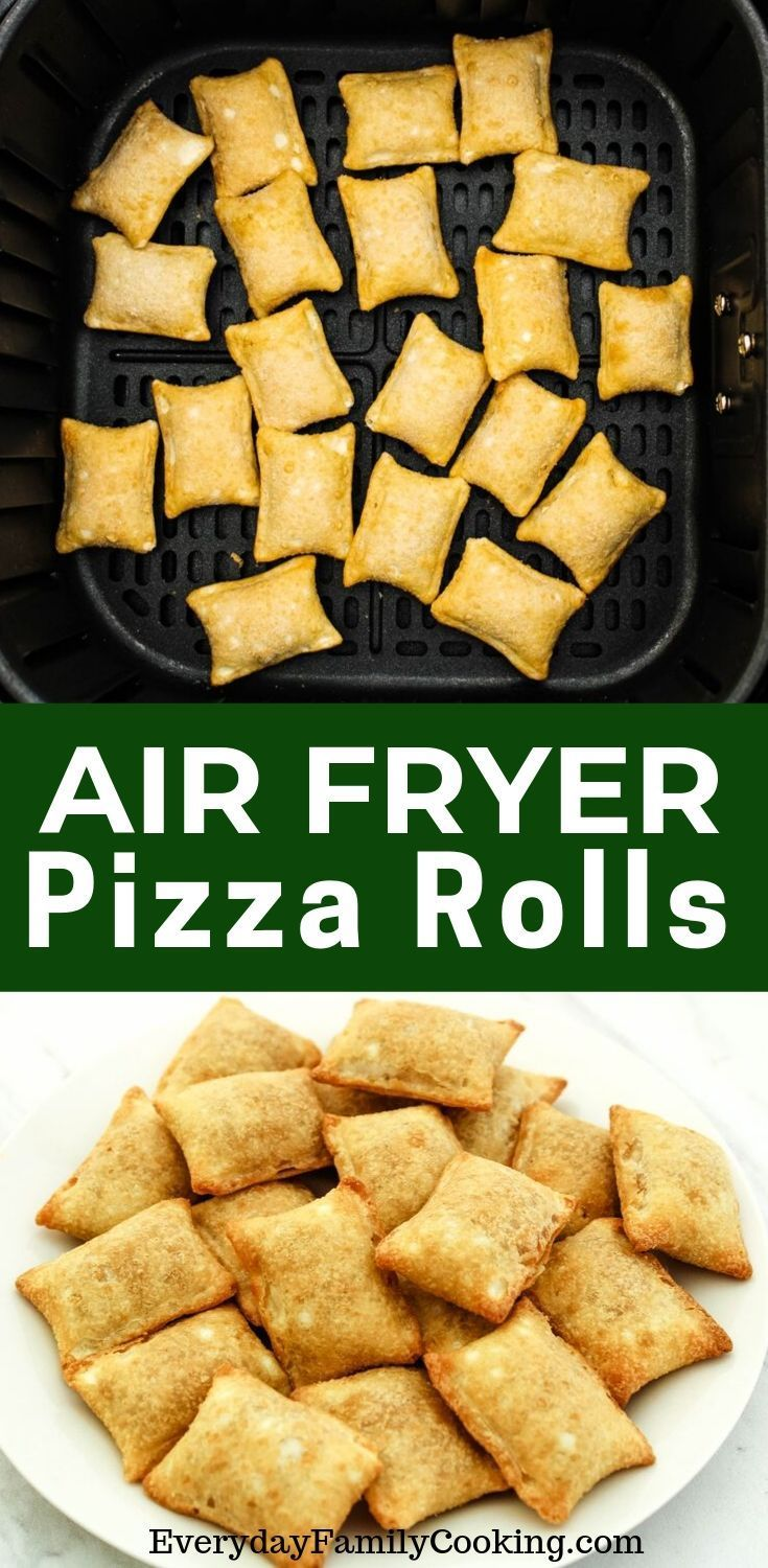 The best air fryer pizza rolls recipe. Includes cooking