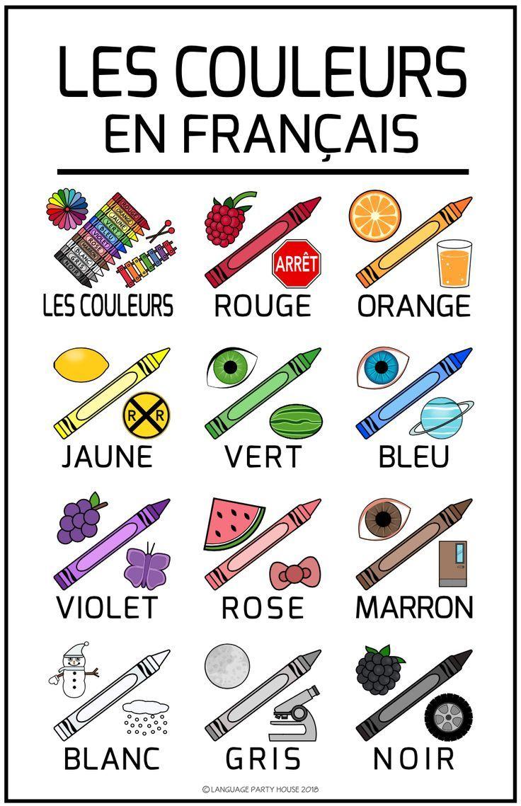 Colors In French Imparare Il Francese Lezioni Di Francese Lingua Francese