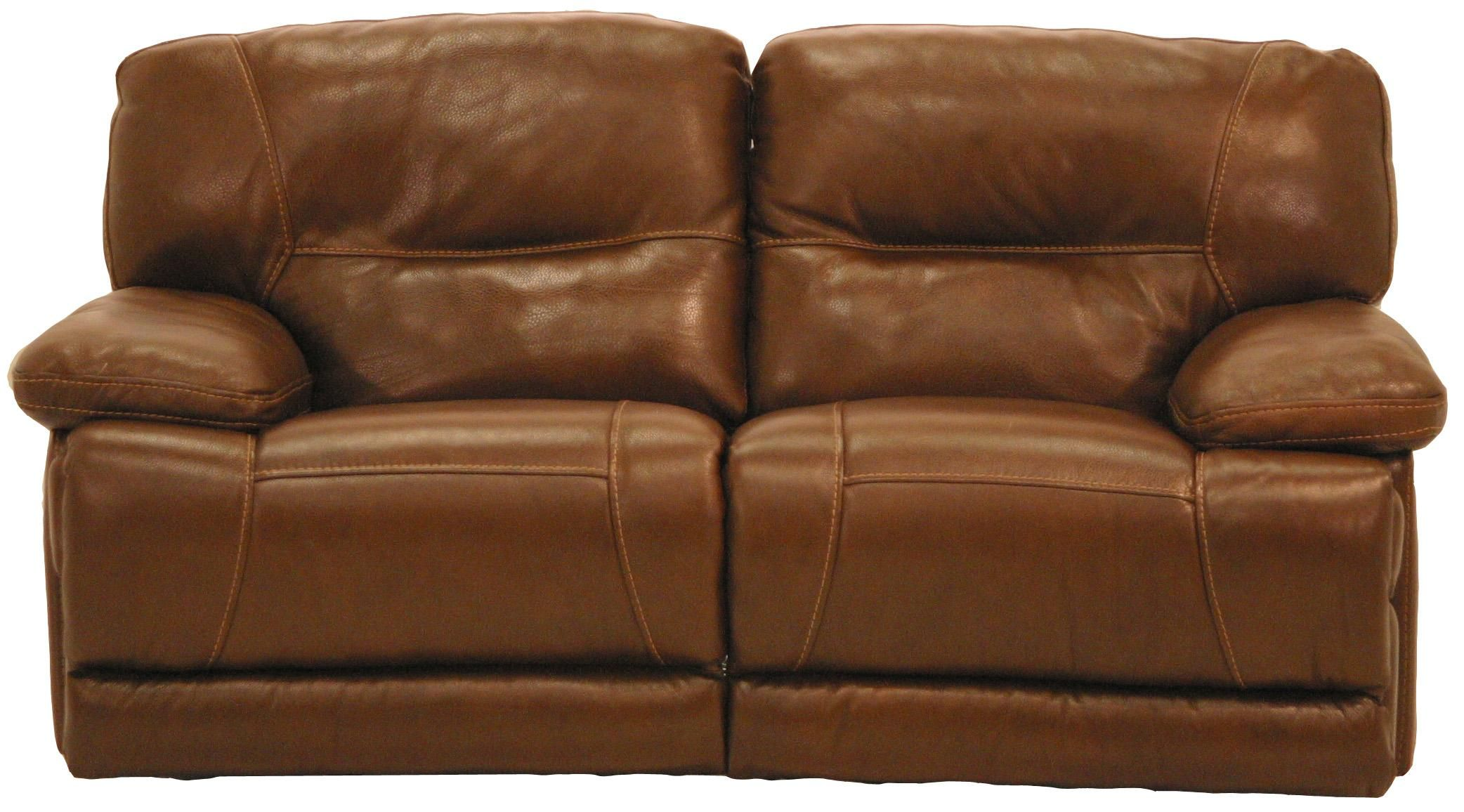 U8557m Leather Casual Reclining Leather Loveseat By Cheers