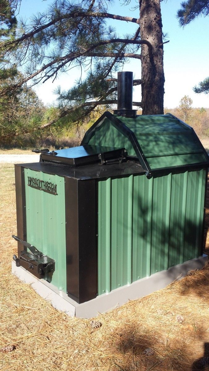 Hyprotherm Top Loading Forced Air Furnace Outdoor wood