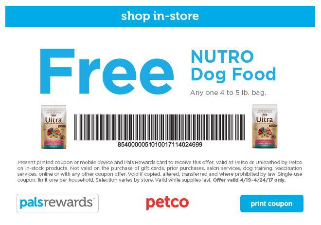 Petco Printable Coupon Free 45 Lb. Bag of Nutro Dog Food