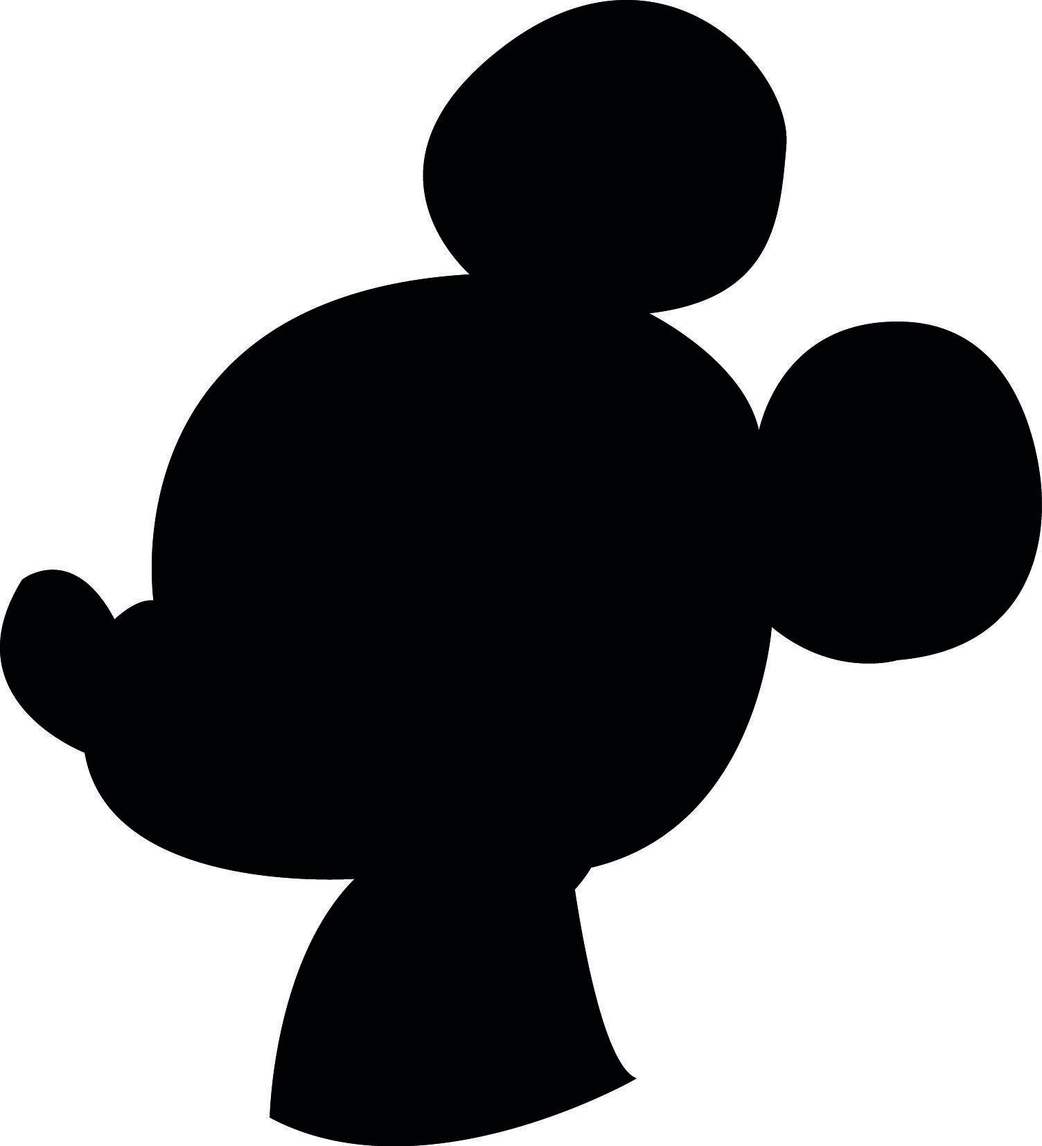 Image result for Mickey Mouse Silhouette Template   Mickey Mouse ...