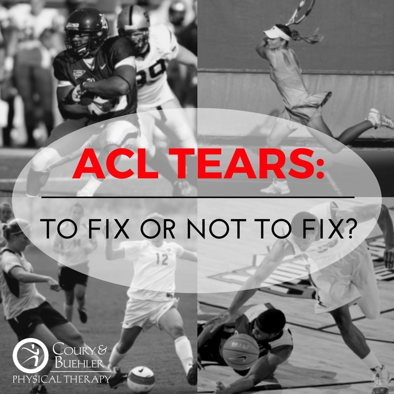 ACL Tears To Fix or Not to Fix Acl tear, Injury