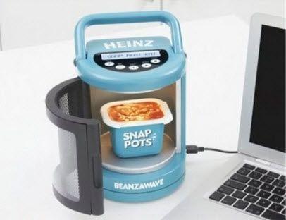 Mini-microondas com cabo USB, muito legal !