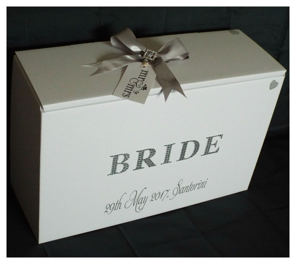 Wedding Dress Travel Box Diamante Bride 4 Colours Airline Hand