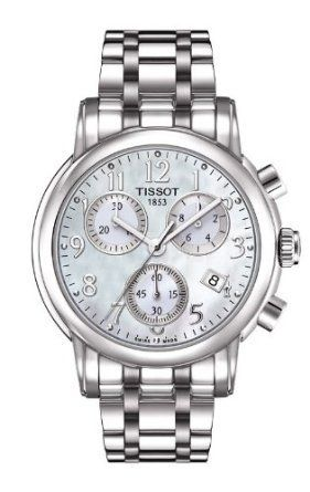 Tissot T Classic Chronograph Mother of Pearl Dial Steel Ladies Watch T0502171111200: Watches: Amazon.com