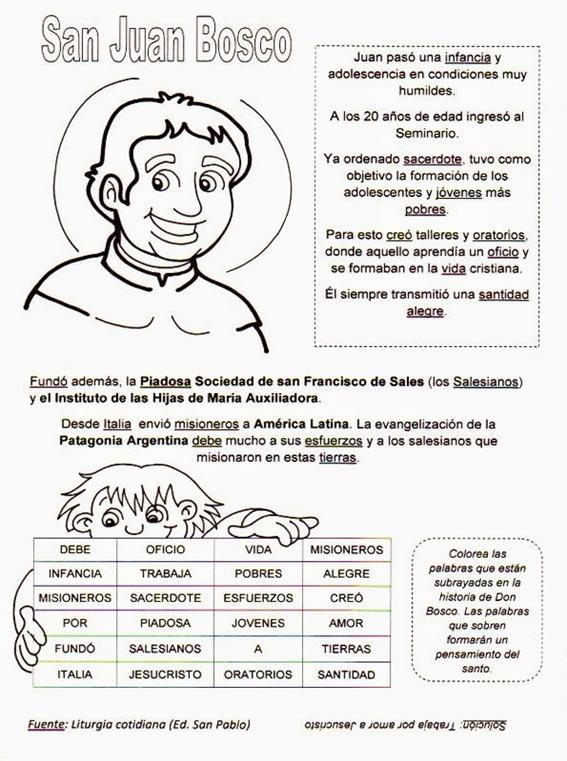 Semana Del 18 Al 21 De Agosto 2 Grado Primario Don Bosco Estudios Bíblicos Para Niños Juan Bosco Catequesis