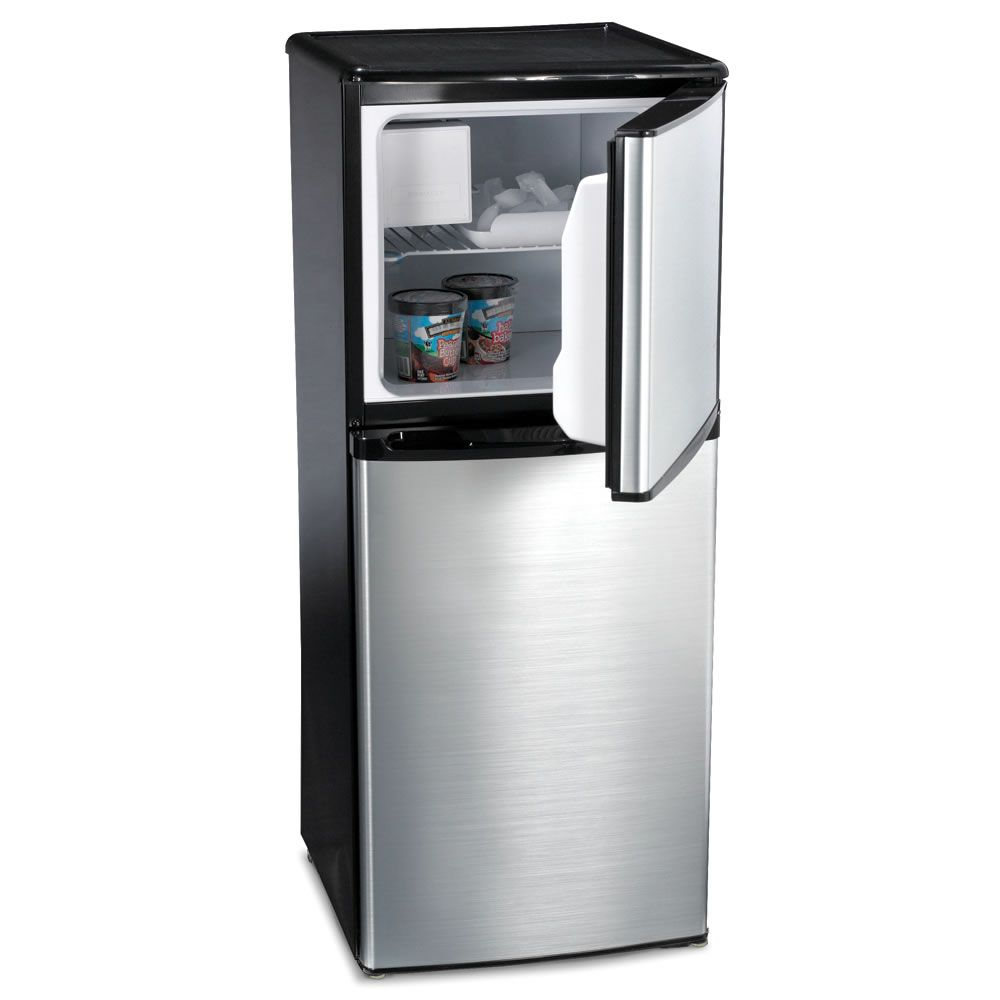 The Only Compact Refrigerator With Ice Maker Hammacher Schlemmer I Think I Will Need An Ice Ma Compact Refrigerator Refrigerator Drawers Small Refrigerator