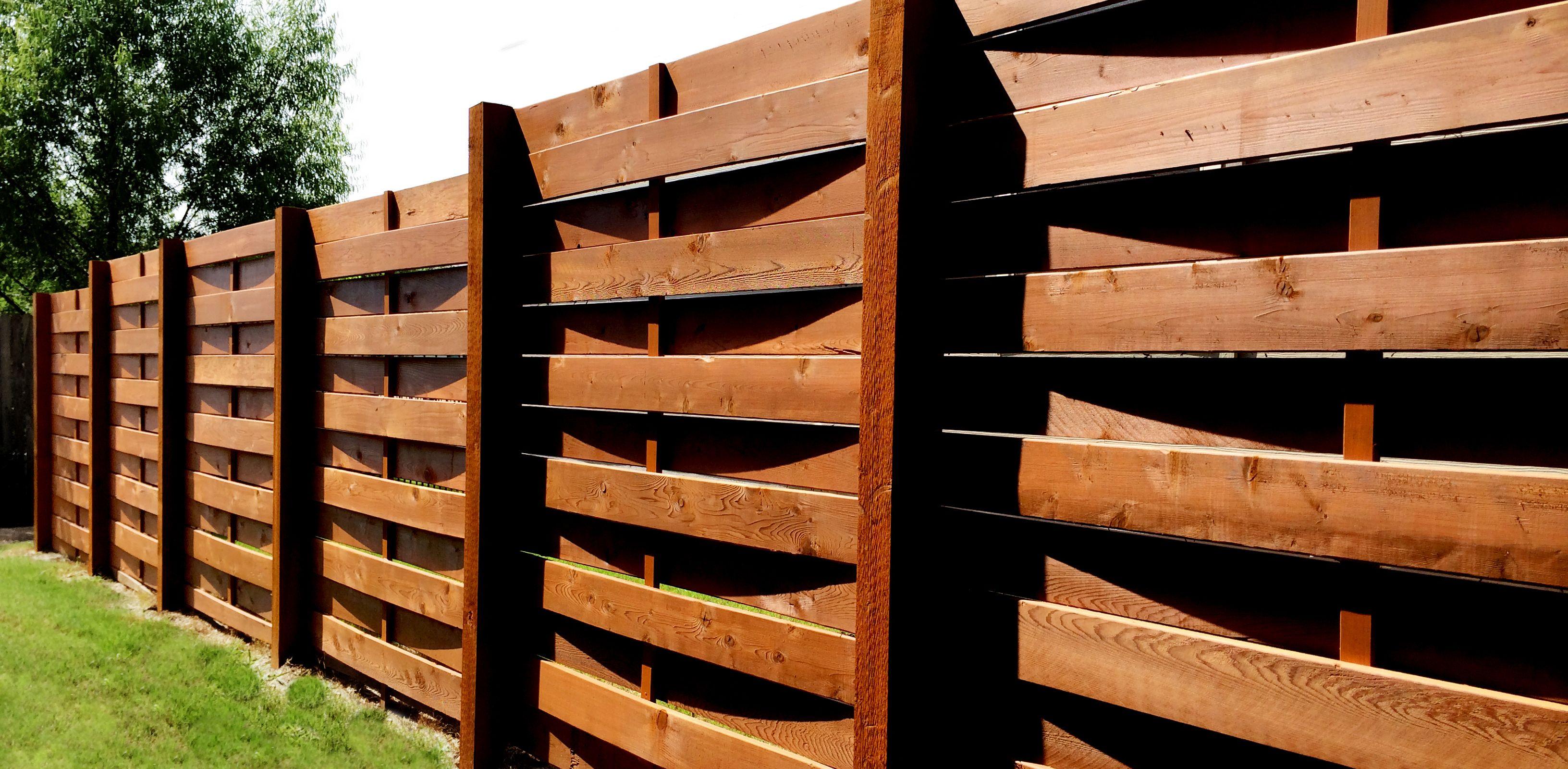 Recinzioni Per Case Di Montagna 6'h, basket weave cedar fence | giardino