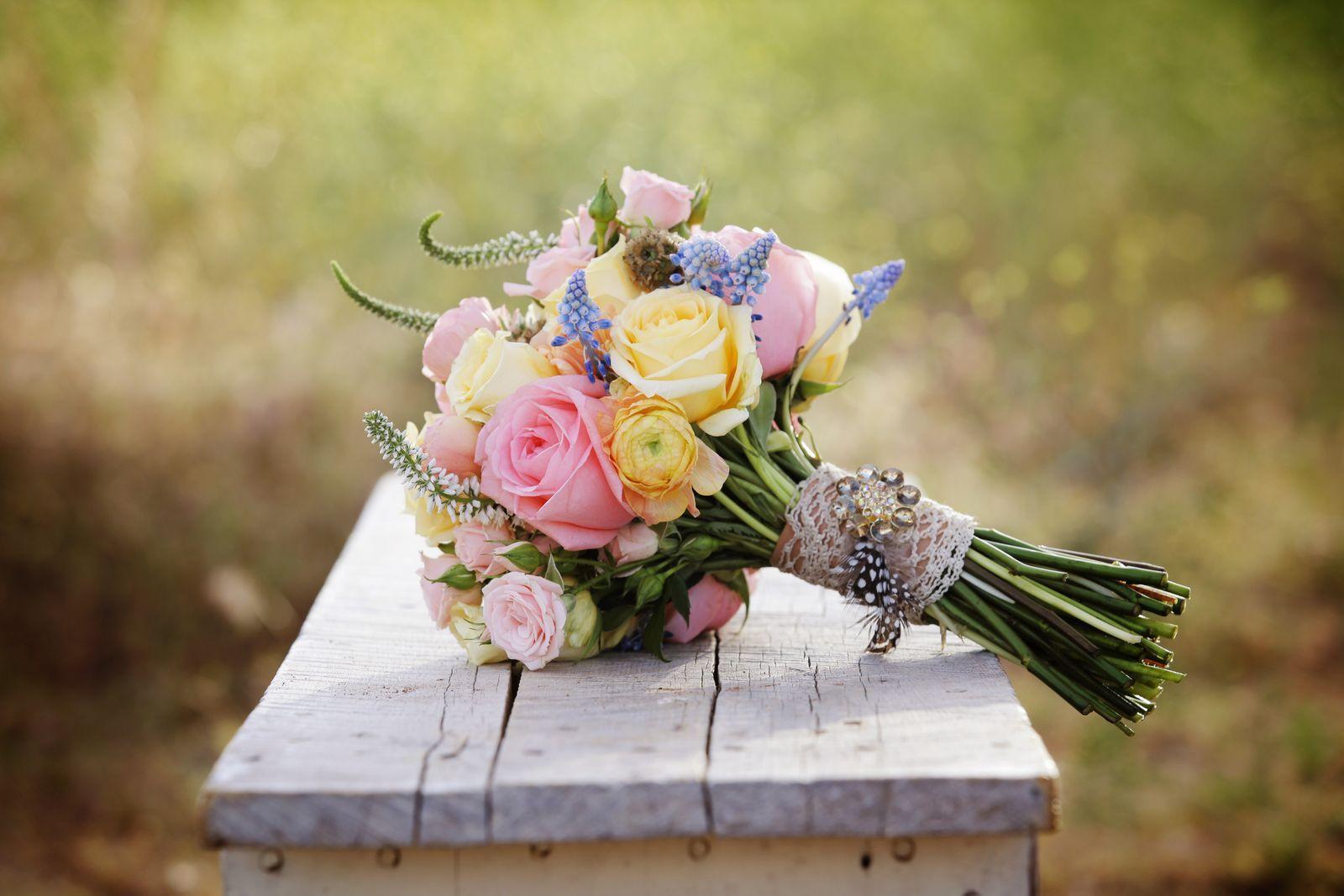 Свадебный букет весенний