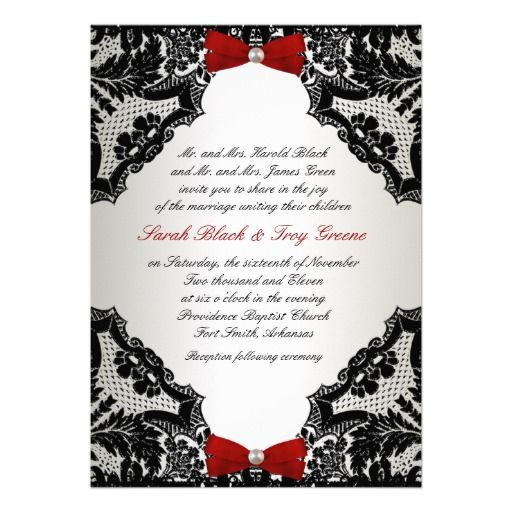 Red white and black lace wedding invitation from zazzle keyla red white and black lace wedding invitation from zazzle stopboris Choice Image